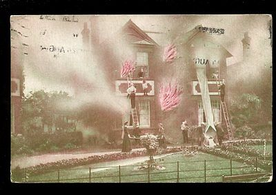 Essex CLACTON House Fire Drill Gregsons? PPC 1924 re message