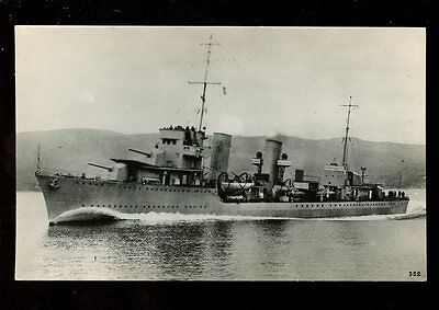 Navy Yugoslavia Shipping Dubrovnik Destroyer RP PPC scuttled in 1945
