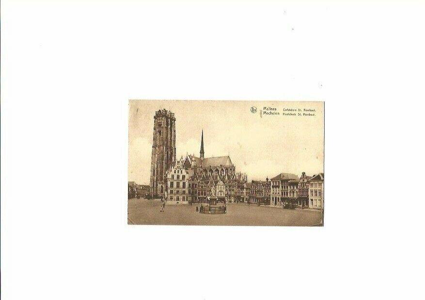 Carte postale de Malines-Cathédrale St Rombaut-1935