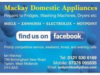 Domestic appliance repairs dishwashers ,tumble dryers, washing machines , cookers.