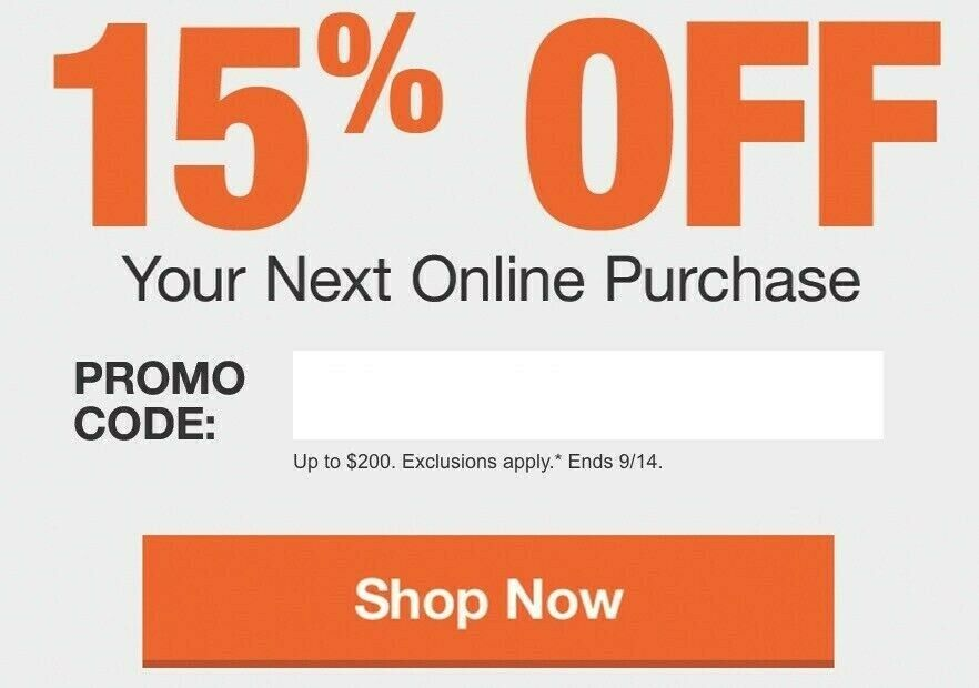 Home Depot 15 OFF Coupon Promo Code, Save Up To 200 At HomeDepot.com - $62.00