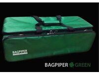 New Shamrock Green Bagpiper Case Highland Bagpipes pipes Uilleann Small Gaita