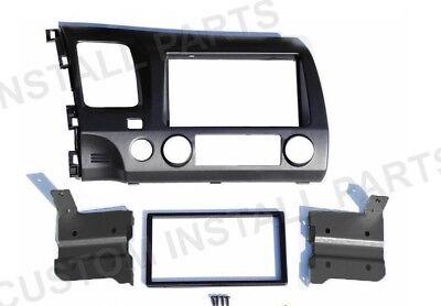 Grey Gray Car Radio Stereo Double Din Install Dash Kit Fits 06-11 Honda Civic