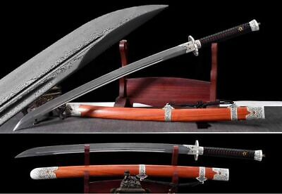 Handmade Chinese Kung Fu Sword Broadsword Sharp Damascus Steel Wushu Dao 刀 Saber