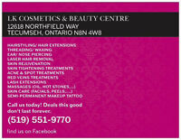 Lash extensions, makeup, hair, hair extensions, massages, & more
