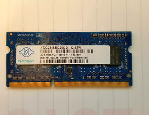 Memory/RAM--- 2/4GB Modules for laptop/notebook