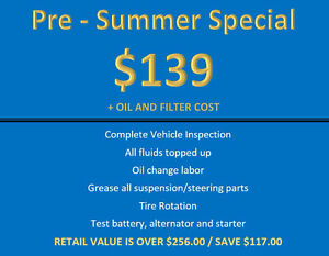 SAVE OVER $117.00 - FALL INSPECTION - UNTIL AUG 31st