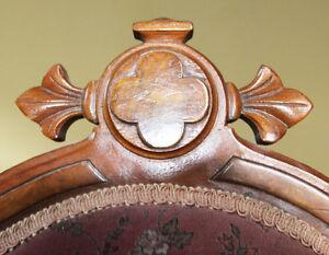 Velvet Victorian parlour chair Stratford Kitchener Area image 2