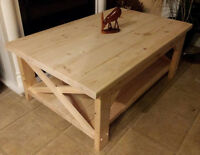 Handmade, Solid-Wood Coffee Tables