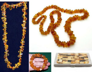 NEW Baltic Amber: bracelets, necklaces (fossils), holder for bus