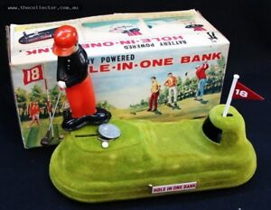 Vintage hole-in-one bank