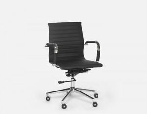 Pair of Spencer (Structube) office chairs (black)