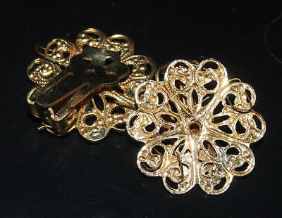 G.P Filigree Clip Earring tops Miriam Haskell style weave bead clusters 2pcs