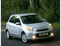 2012 Nissan Micra 1.2 DIG-S 12v Acenta CVT Auto, Sat Nav Parking aid £30 Rd tax