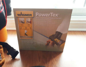 Power Tex All in One Textured Paint Sprayer with bag of stucco