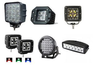 NEW CASE LOT SMALL LED PODS , SQUARES , ROUNDS AND RGB PODS !