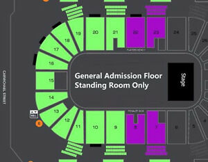 AMAZING LOWER BOWL SIMPLE PLAN CONCERT TICKETS !!!
