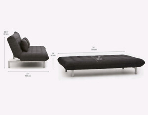 Structube sofa ( Couch and chaise) - convertible to bed