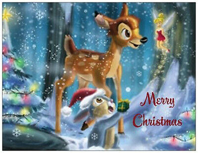 20 CHRISTMAS Bambi THUMPER Tinkerbell DISNEY 5.5X4 Flat CARDS Envelopes - Tinkerbell Christmas Cards