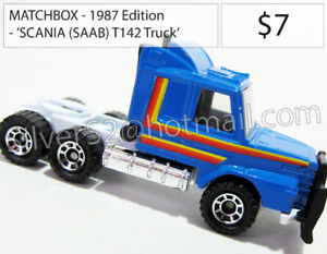 - MATCHBOX 1987 Ed. 'SCANIA SAAB T 142 Truck Tractor Trailer -