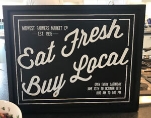 BEAUTIFUL VINTAGE/RUSTIC LOOKING FARMER'S MARKET SIGN NEW