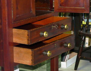 Georgian Period Antique Mahogany 2 Drawer Cabinet Kingston Kingston Area image 10
