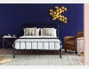 QUEEN SIZE MATTRESS AND STYLISH HEAD + FOOTBOARD