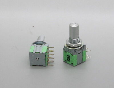 2 X Alpha 10mm Rotary Switch 1 Pole 2 Throw 1p2t 15mm Solid D Shaft