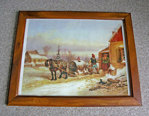 Krieghoff Framed Print - No Money, No Water (Early 1850's)
