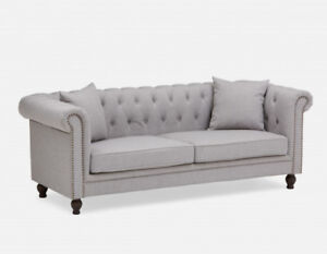 Brand New Structube ARIELLE 3-Seater Sofa Light Grey Sealed