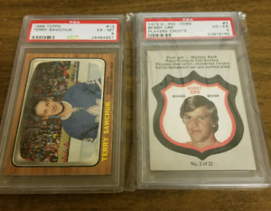 Bobby orr, gordie howe, henri Richard psa graded hockey cards