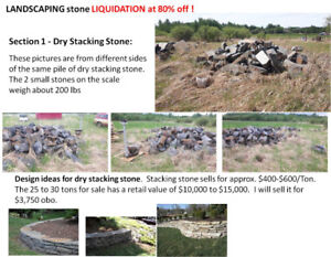 Landscaping Stone Inventory Liquidation - 80% off !