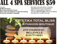 CHRISTMAS SPA PACKAGE $59