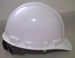 3m White Safety Construction Hard Hat with Ratchet Adjustment
