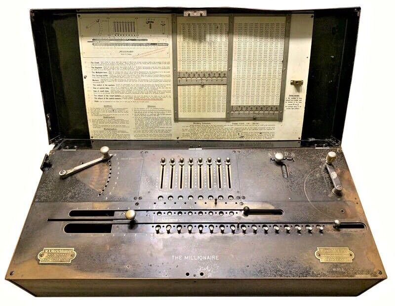 "RARE ""Millionaire"" Calculating Machine (903 of 4655) Made in Switzerland by Egli"