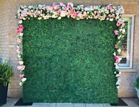 Flower walls, arches and marquee letters for rent!
