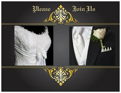 20  WEDDING Rehearsal DINNER  Invitations Dress & Tuxedo Elegant  Post CARDS USA](Post Wedding Invitations)