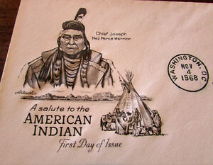 1968 Saluting American Indian 6 Cent First day Cover Kitchener / Waterloo Kitchener Area image 2