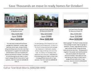 OCTOBER SPECIAL - SAVE UP TO $10,000 ON READY TO MOVE IN HOMES!