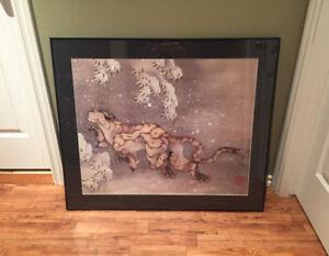 Old Tiger in the Snow by Katsushika Hokusai
