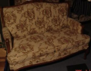 classic traditional loveseat. French provincial design.