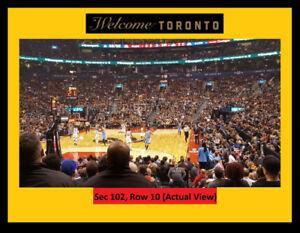 =Raptors Tickets CLEVELAND CAVALIERS:Fri.Dec-21.LowerBowl:Row10=