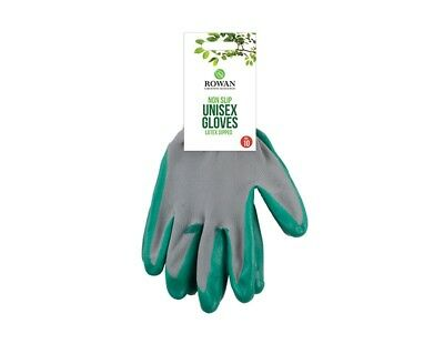 Gardening Gloves Set of 2, Latex Dipped Non Slip Work Gloves