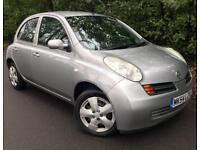 2004 NISSAN MICRA SE, 1.2 ENGINE, 5 DOORS, LONG MOT & FULL SERVICE HISTORY
