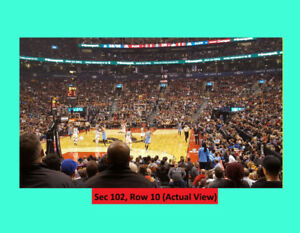 =Raptors Tickets v CHARLOTTE HORNETS.Oct-22. Lower Bowls:Row 10=