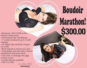 Boudoir Marathon $300 makeup & hair included