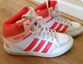 Girls Adidas high top trainers size infant 11