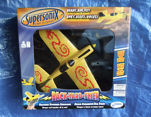 New Supersonix Backyard Flyer Battery Operated Airplane