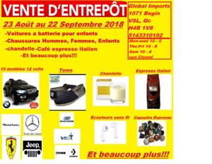 VENTE D'ENTREPOT WAREHOUSE SALE