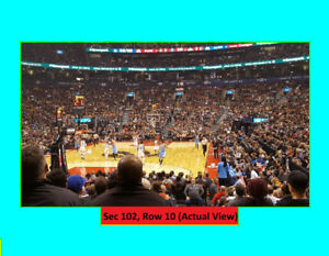 =Raptors Tickets v MINNESOTA WOLVES. Oct-24. Lower Bowls:Row 10=
